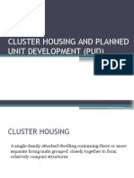 Cluster Housing and Planned Unit Development (Pud)
