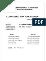 Random Access Memory Project