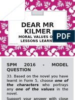 Dear Mr Kilmer_answering the Novel