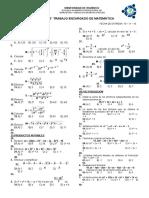 Trabajo de Teoria de Exponentes, Prod. Notables, Factorización, Ecuaciones e Inecuaciones