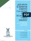 Qué afecta el bienestar subjetivo y la calidad de vida de las niñas y niños chilenos