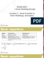 Lecture 5 Heat Transfer in Solar Buildings Examples