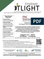 Employer Spotlights August 2016