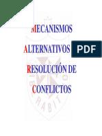 Arbitraje - Mecanismos Alternativos
