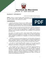 Rs 297-2015-JNE - Reconoce a Luis Valdez Como Gobernador