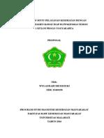 Hubungan Mutu Pelayanan Kesehatan Dengan Kepuasan Pasien Rawat Inap Di Puskesmas Temon 1 Kulon Progo Yogyakarta