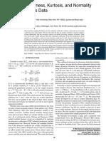 2005 Testing Skewness Kurtosis and Normality for Time Series Data