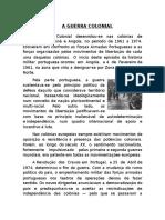 A Guerra Colonial - Curso de Portugues