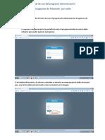 Manual de Uso Del Programa Administración Agencias
