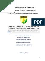 """CONCIENCIA TURÍSTICA  Y CONSERVACIÓN DEL """"COMPLEJO ARQUEOLÓGICO TANTAMAYO"""" DEL DISTRITO DE HUAMALIES PROVINCIA DE HUÀNUCO"""