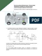 TD Modélisation Des Systèmes Mécatroniques