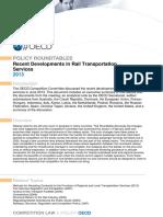 Rail Transportation Services 2013