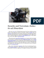 Security and Terrorism - Reductio ad Absurdum