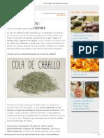 Cola de Caballo_ Contraindicaciones _ Salud