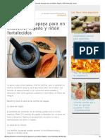 Semillas de Papaya Para Un Intestino, Hígado y Riñón Fortalecidos _ Salud