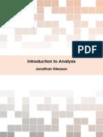 Gleason, Jonathan - Introduction to Analysis