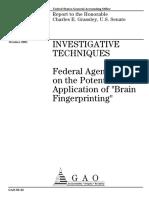 "Potential Application of ""Brain Fingerprinting"""
