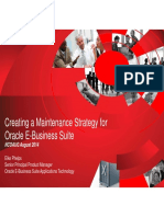 Creating a Maintenance Strategy for Oracle E-Business Suite