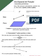 Geometria Espacial de Posição - Resumo