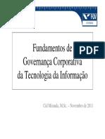 Fundamentos de Governança de TI 2011 11a
