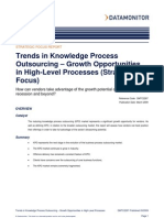 Trends in Knowledge Process Outsourcing – Growth Opportunities in High-Level Processes