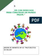 Proyecto  Derecho Del Niño