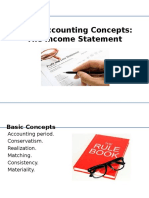Accounting Concepts & Convention Income Statement