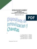 Dispositivos de Inmovilizacion y Chavetas