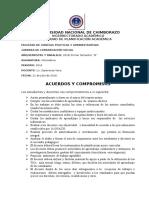 DECLARACION DE ACUERDOS Y COMPROMISOS
