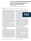 Interdisciplinary Learning With Computational Chemistry Collaborative Chemistry Geology