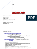 proiect Didactic Subiect Predicat