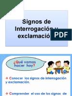 Presentacion Segundo Basico Signos de Exaclamacion e Interrogacion