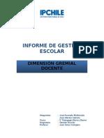 Informe Gestión Escolar Dimensión Gremial