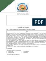 avaliação de Português 4 Ano 2 Bi