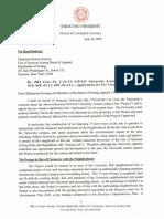 Syracuse University letter