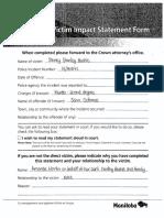 Victim Impact Statement — MARTIN, Amanda