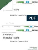 Presentación Estados Financieros Sincelejo Oct 2015 NIF