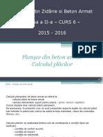 Plansee de b.a.- Calcul 2015-2016 C6