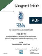 certification fema