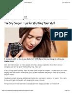 The Shy Singer