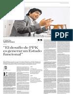 Entrevista con Carlos Meléndez en el diario El Comercio