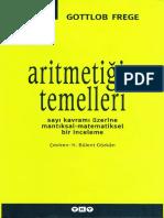 Gottlob Frege Aritmetiğin Temelleri YKY