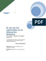 El Uso de Los Materiales en La Educación Plástica