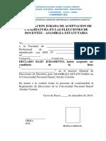 FORMATO 03-Declaracion Jurada Candidatura DOCENTES AU