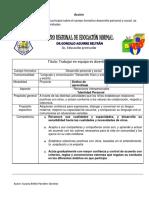 Planeacion Desarrollo Personal y Social