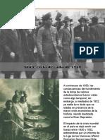 3° Medio II Unidad Chile entre 1927 y 1938.