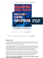 Concentration Drills