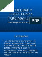 Infidelidad y Psicoterapia Psicoanalitica