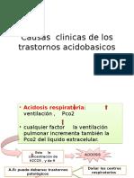 Causas Clinicas de Los Trastornos Acidobasicos