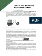 Cómo Conectar Una Impresora de Tickets Epson Con Puerto Serie